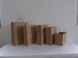 Carry Bag,Hotel Parcel Bag Brown Kraft Paper Bags, For Shopping