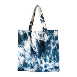 Blue, White Tie And Dye Tote Bag