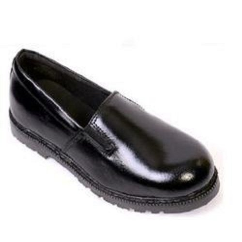 Black Ladies Leather Shoes, Packaging Type: Box, Size: 3-8