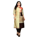 Dp Collections Women's Taffeta Silk Kurtis
