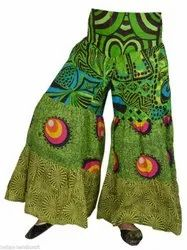 Cotton Printed Patchwork Palazzo Pants Boho Gypsy Trousers TR15C