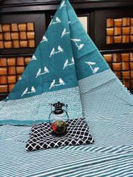 D.S. Bandhani Printed Ladies Cotton Saree, With Blouse Piece, 5.5 m (Separate Blouse Piece)