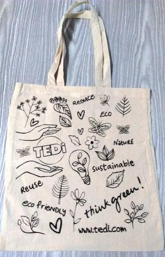 Multicolor home textiles Printed Cotton Bags