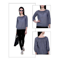 Rayon Grey Top