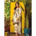 Linen Ladies Full Sleeve Embroidered Casual Pakistani Suit