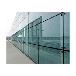 Toughened Front Elevation Glass Partition Work, Dimension/Size: 500 - 1000 sq.ft., Delhi Ncr