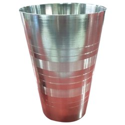 Silver Plain SS Water Glass, Capacity: 200mL To 250mL