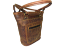Vintage Leather Designer Tote Bag
