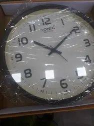 Black Plastic Decoratice Wall Clock