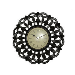White Carving Wall Clocks, For Home & Office