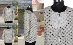 Designer Cotton Tops / Kurtis, Wash Care: Machine wash