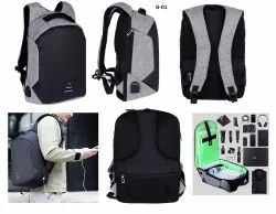 Black Polycarbonate Tech Bag, Number Of Compartments: 10