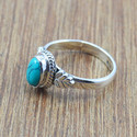 WHOLESALE 925 STERLING SILVER JEWELRY TURQUOISE STONE RING WR-4999