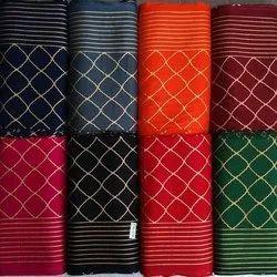 Printed Rayon Gold Print Fabric, For Garments