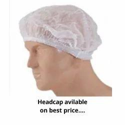 White Non Woven Head Cap, Quantity Per Pack: 5600 Pc 1 Crtn, Size: 18''
