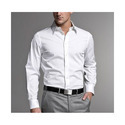 Cotton/linen White Formal Shirts