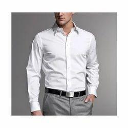 Cotton/Linen White Formal Shirts