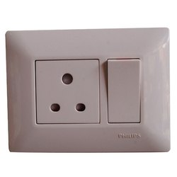 3 Pin 16 Amp Philips Switch Socket Combination, 230 V