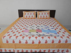 Jaipuri Printed Double Bed Sheet