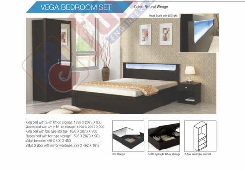Wooden Natural Wenge Vega Bedroom Set For Home Size 207 3 X 189 8 X 90 Cm Id 20279438673