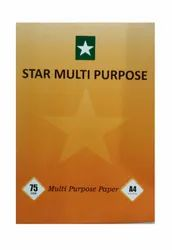 White STAR A4 Photocopy Paper for Multi Purpose, GSM: 75