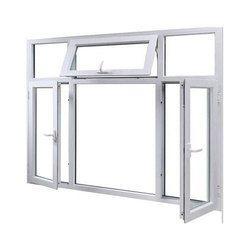 White UPVC Combination Window