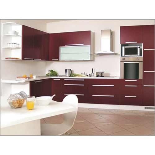 Interior Design Kitchen Photos: Wooden Residential Italic Frame Modular Kitchen Designing