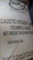 Gacl Caustic Potash flakes, Grade: Standard, Purity: 99.9