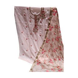 Embroidered Dress Material in Ludhiana, कढ़ाईदार