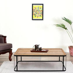AST International Brown Wooden Sofa Table