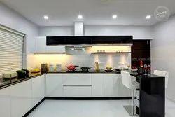 Acrylic Modular Kitchen, Warranty: 1-5 Years