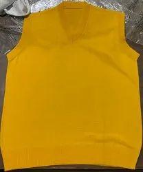 Yellow Sleeveless Uniform Sweater