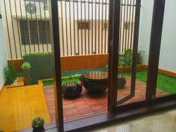 Grass Housing Areas Terrace Gardening, Client Site