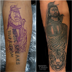 Cover-up Tattoos - Pixel Tattoos