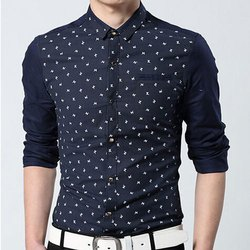 Cotton Collar Neck Men Printed Shirts