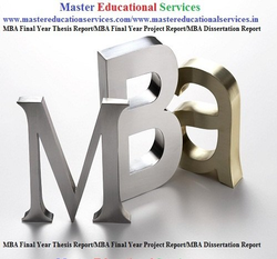 MBA Final Year Thesis Report Service Provider for IIM In  India