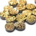 10 MM Golden Coated Druzy stone