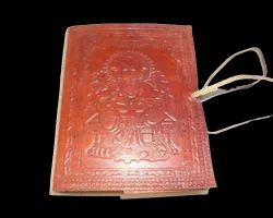Lord Ganesha Embossed Handmade Leather Diary