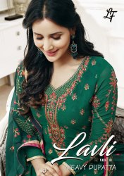 Semi-Stitched Embroidery Georgette Long Salwar Kameez Suits