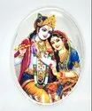 Radha Krishna Color Silver Coin 50 gm.