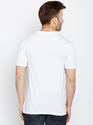 100% Cotton Men Short Sleeve Self Design Round Neck T-Shirt