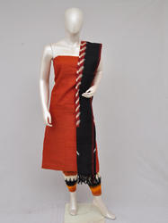 Pochampally Double Ikkat Designer Dress Material