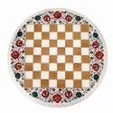 White Natural Marble Inlay Table tops