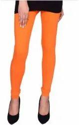 Ladies Plain Cotton Lycra Leggings- Free Size