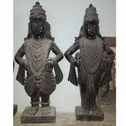 Black Marble Radhe Krishna Statue