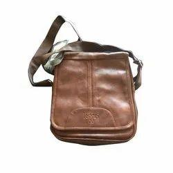 Loggin Brown Mens Leather Side Bag