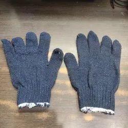 白色棉花手针织手套720克重,工业,尺寸:中等