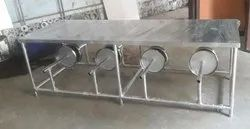 Silver Dinning Table SS 8 Seater