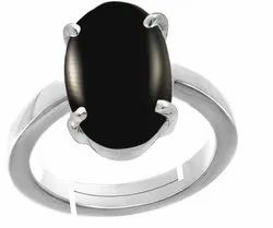 Black Onyx Ring Men and Women Silver Gemstone
