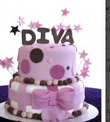 Bespoke Couture Cakes 2 Tier Diva Birthday Cake Bakery